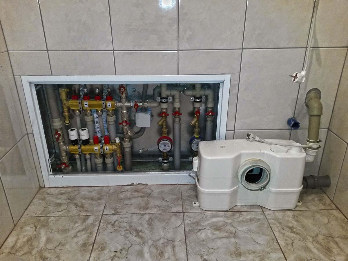 Теплый пол в бане под плитку водяной